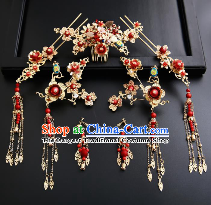 Chinese Ancient Traditional Hanfu Hair Comb Hairpins Handmade Classical Hair Accessories for Women