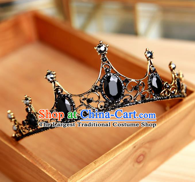 Handmade Top Grade Bride Hair Clasp Hair Accessories Baroque Queen Royal Crown for Women