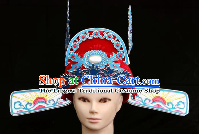 Traditional Chinese Beijing Opera Scholar Hair Accessories Peking Opera Niche Red Hat for Men