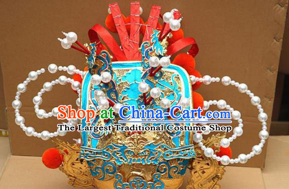 Traditional Chinese Beijing Opera General Helmet Peking Opera Hair Accessories Hat for Men