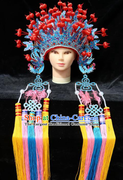 Chinese Traditional Peking Opera Bride Phoenix Coronet Beijing Opera Princess Hats for Women