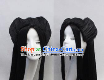 Chinese Ancient Cosplay Peri Long Wigs Traditional Princess Chignon Handmade Wig Sheath