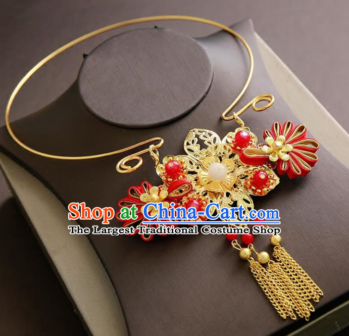 Chinese Ancient Handmade Necklace Traditional Classical Hanfu Jewelry Accessories for Women