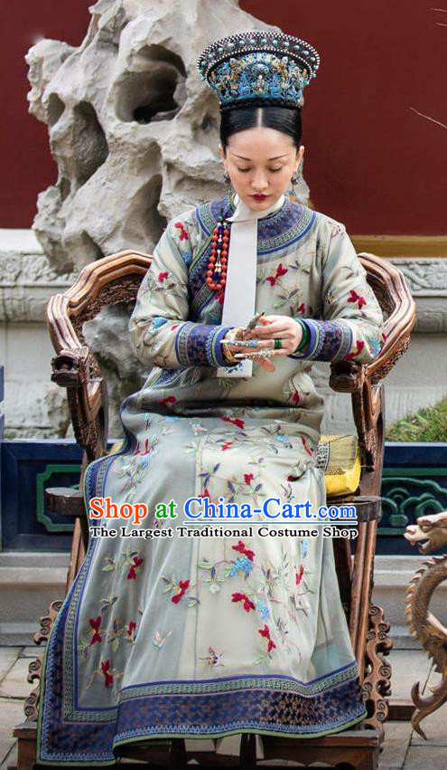 Chinese Ancient Drama Ruyi Royal Love in the Palace Qing Dynasty Empress Embroidered Costumes and Headpiece for Women