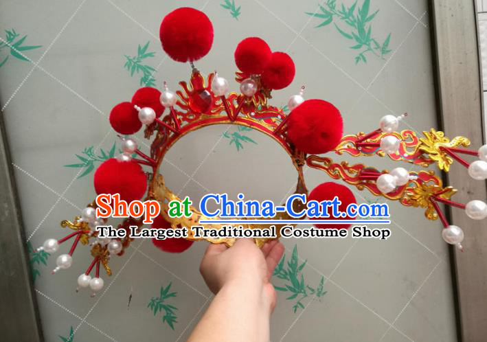 Traditional Chinese Beijing Opera Takefu Helmet Peking Opera Hair Accessories Hat for Men