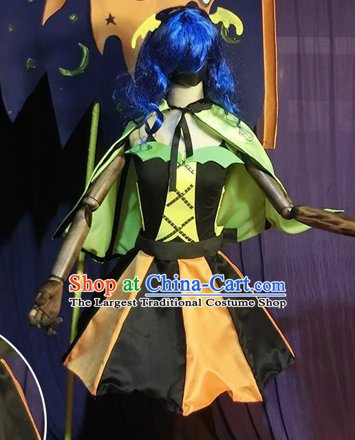 Halloween Cosplay Witch Stage Show Costumes Brazilian Carnival Parade Dress for Women