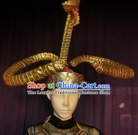 Halloween Cosplay Egypt Snake Hair Accessories Brazilian Carnival Parade Headwear for Men