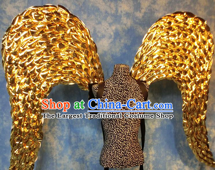 Halloween Cosplay Stage Show Props Accessories Brazilian Carnival Parade Golden Wings for Women