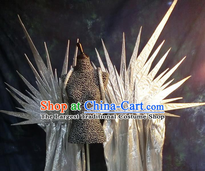 Halloween Cosplay Stage Show Props Catwalks Accessories Brazilian Carnival Parade White Wings for Women