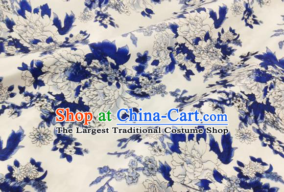 Asian Chinese Traditional Peony Pattern Design Brocade Fabric Silk Fabric Chinese Material