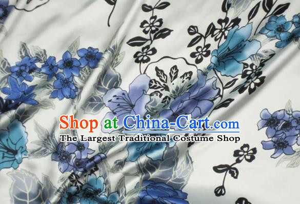 Asian Chinese Traditional Flowers Pattern Design Brocade Fabric Silk Fabric Chinese Material
