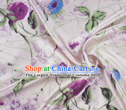 Asian Chinese Traditional Pattern Design Pink Brocade Fabric Silk Fabric Chinese Material