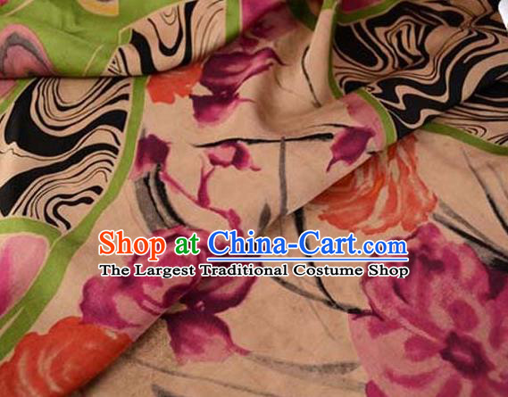 Asian Gambiered Guangdong Gauze Material Chinese Traditional Pattern Silk Design Brocade Fabric
