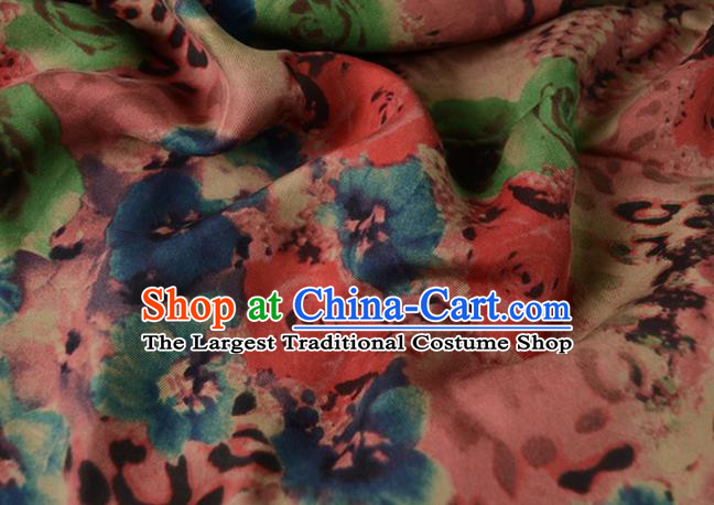 Asian Printing Gambiered Guangdong Gauze Material Chinese Traditional Pattern Silk Design Brocade Fabric