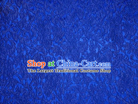 Asian Chinese Tang Suit Satin Material Traditional Pattern Design Royalblue Brocade Silk Fabric