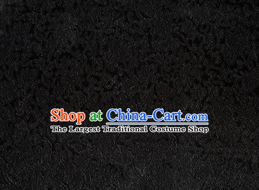 Asian Chinese Tang Suit Black Satin Material Traditional Pattern Design Brocade Silk Fabric