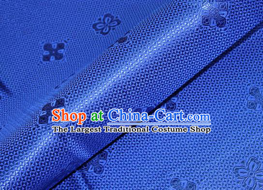 Asian Chinese Tang Suit Material Traditional Pattern Design Royalblue Satin Brocade Silk Fabric