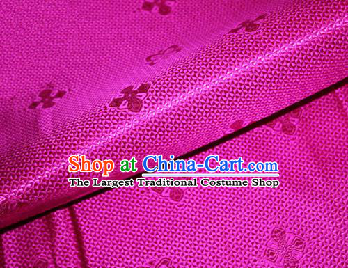 Asian Chinese Tang Suit Material Traditional Pattern Design Rosy Satin Brocade Silk Fabric
