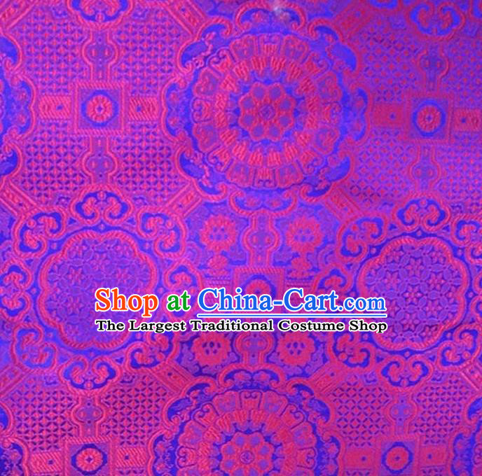 Asian Chinese Tang Suit Material Traditional Pattern Design Rosy Brocade Silk Fabric