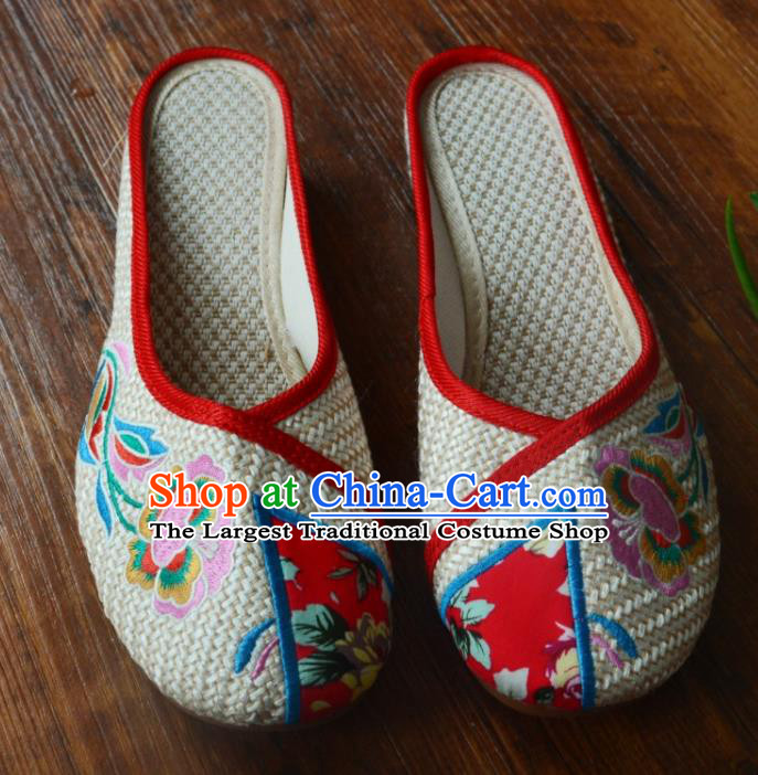 Chinese Traditional Hanfu Shoes Ancient Princess Shoes Embroidered Slippers for Women