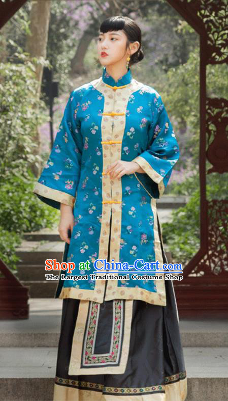 Traditional Chinese Qing Dynasty Dowager Xiuhe Suits Ancient Drama Nobility Lady Costumes for Women