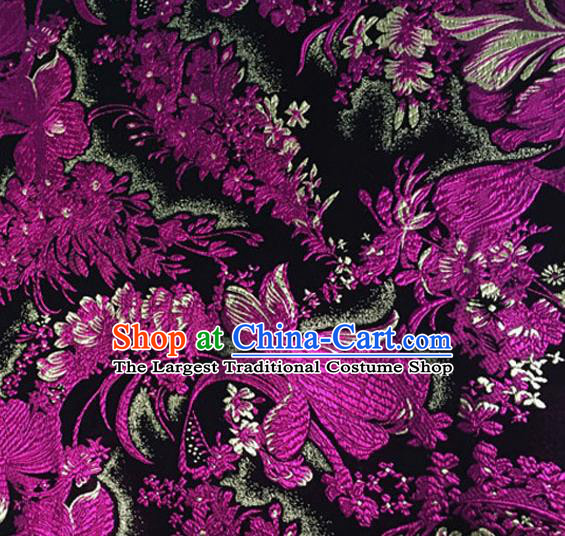 Asian Chinese Tang Suit Brocade Material Traditional Pattern Design Satin Silk Fabric