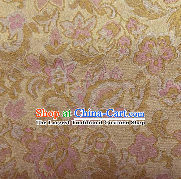 Asian Traditional Pattern Design Pink Satin Material Chinese Tang Suit Brocade Silk Fabric