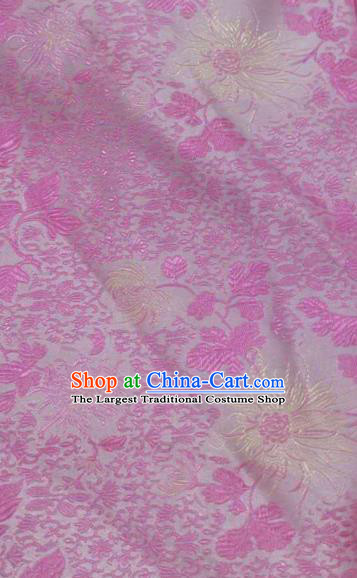 Asian Traditional Pattern Design Rosy Satin Material Chinese Tang Suit Brocade Silk Fabric