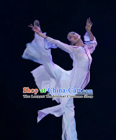 Chinese Traditional Classical Dance Costumes Umbrella Dance Ballet Clothing for Women