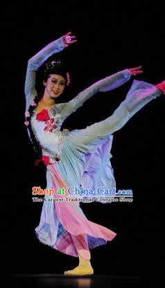 Chinese Traditional Classical Dance Costumes Stage Performance Folk Dance Dress for Women
