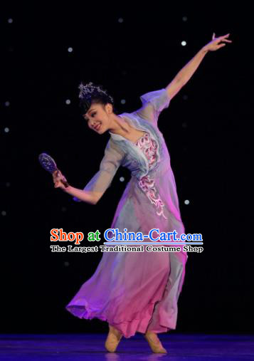 Chinese Traditional Classical Dance Group Dance Costumes Stage Performance Dress for Women
