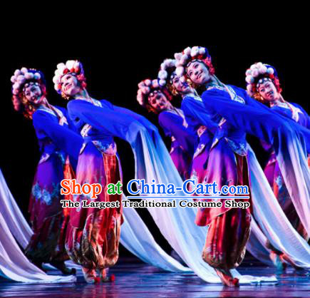 Chinese Traditional Folk Dance Group Dance Costumes Peking Opera Stage Performance Dress for Women