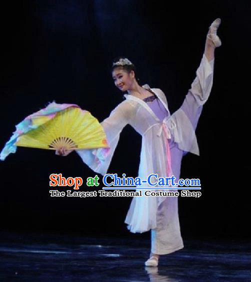 Chinese Traditional Folk Fan Dance Costumes Group Dance Stage Performance Clothing for Women