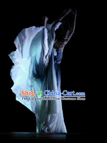 Chinese Traditional Classical Dance Costumes Group Dance Stage Performance Clothing for Women