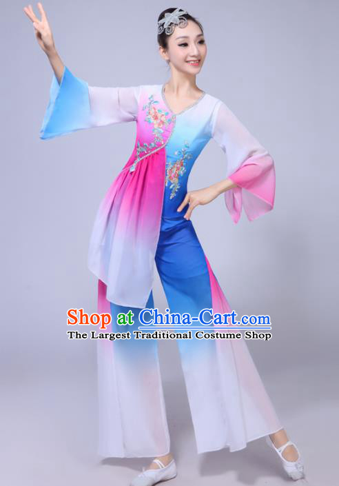 Chinese Traditional Stage Performance Yangko Dance Costumes Group Dance Folk Dance Clothing for Women