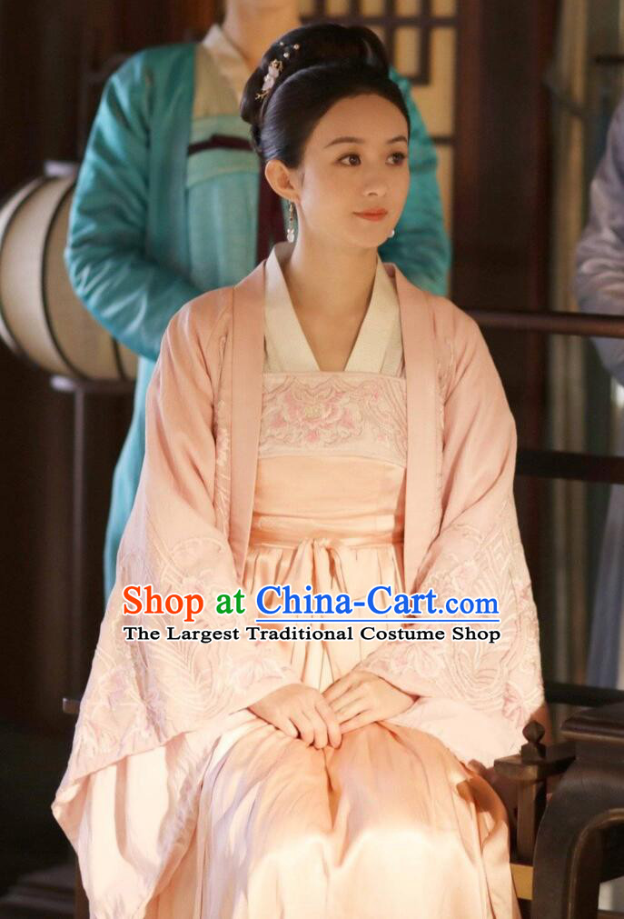 The Story of MingLan Chinese Ancient Drama Song Dynasty Marquise Embroidered Historical Costumes and Headpiece Complete Set