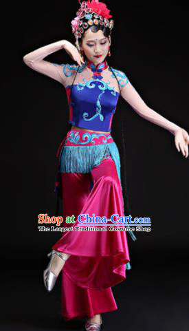Chinese Traditional Folk Dance Yangko Costumes Drum Dance Beijing Opera Dress for Women