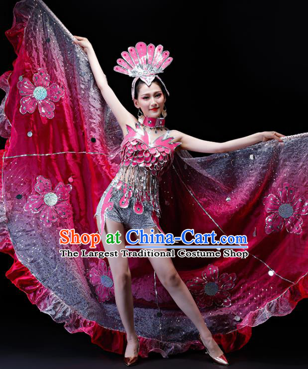 Professional Modern Dance Costumes Opening Dance Stage Show Clothing with Wings for Women