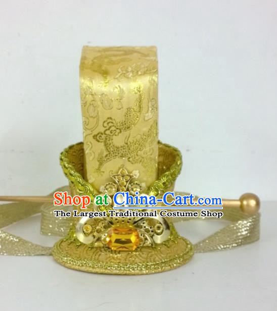 Chinese Ancient Royal Prince Hair Accessories Tang Dynasty Swordsman Golden Hairpins Headwear for Men