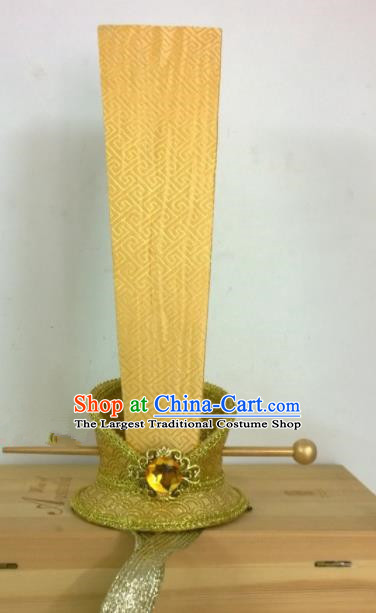 Chinese Ancient Royal Prince Hair Accessories Spring and Autumn Period Emperor Golden Hairpins Headwear for Men