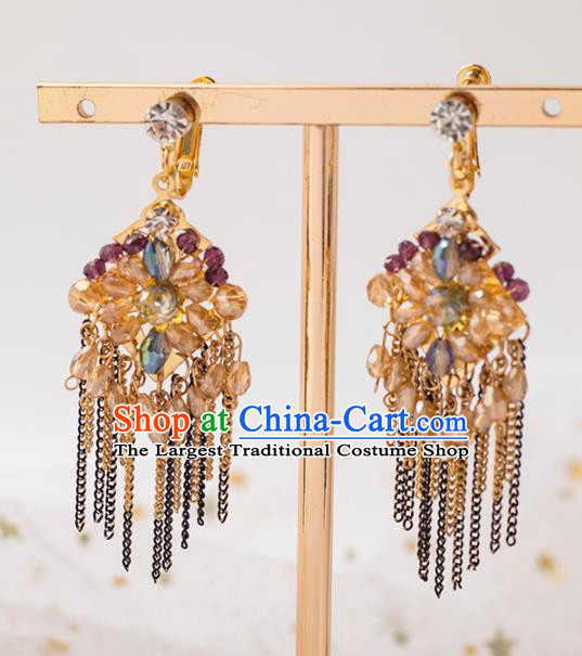 Handmade Wedding Ear Accessories Top Grade Bride Hanfu Tassel Earrings for Women
