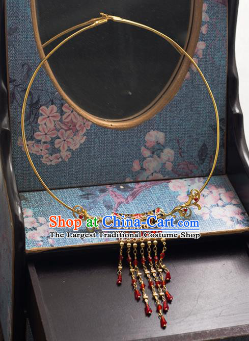 Chinese Ancient Wedding Accessories Bride Handmade Hanfu Necklace for Women