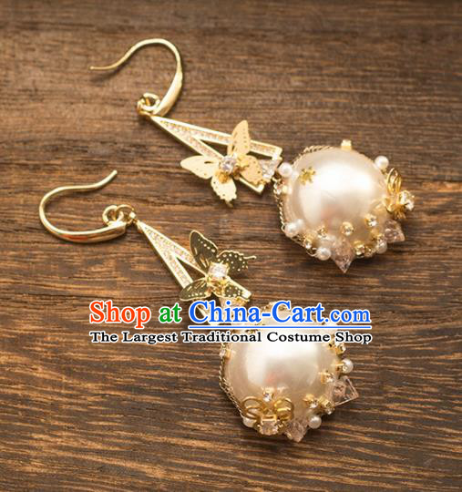 Handmade Wedding Ear Accessories Top Grade Bride Hanfu Pearls Earrings for Women