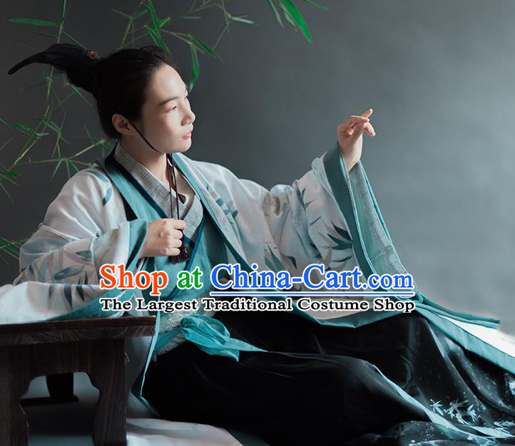 Chinese Traditional Han Dynasty Prince Historical Costumes Ancient Nobility Childe Hanfu Clothing for Men