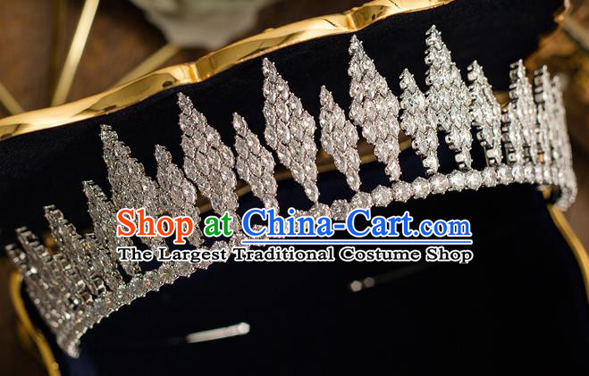 Top Grade Handmade Wedding Bride Hair Accessories Princess Crystal Royal Crown Headwear for Women