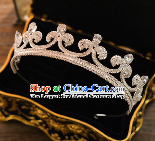 Top Grade Wedding Bride Hair Accessories Princess Crystal Royal Crown Headwear for Women