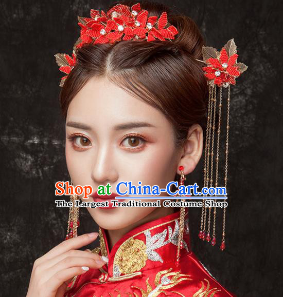 Chinese Ancient Palace Bride Hair Accessories Wedding Hair Combs Hairpins Headwear for Women