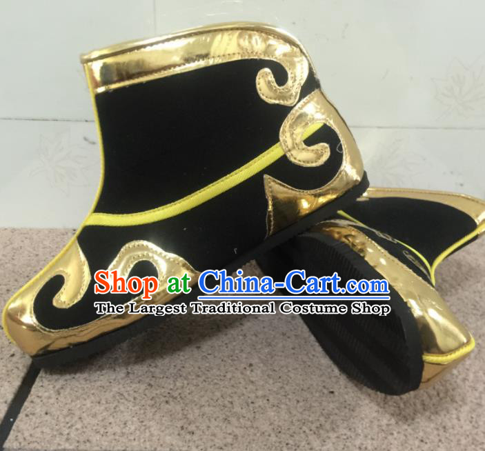 Chinese Traditional Shoes Ancient Beijing Opera Takefu Boots Hanfu Shoes for Men
