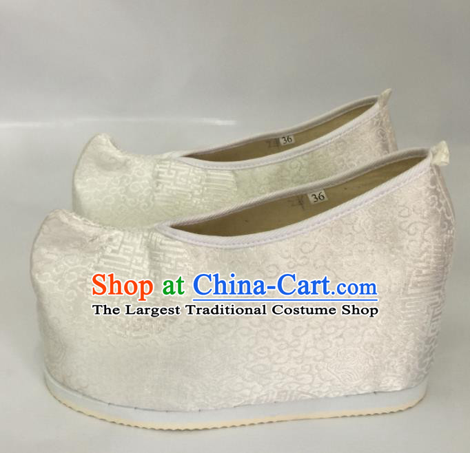 Traditional Chinese Shoes Ancient Princess High Heel Shoes Hanfu Shoes Opera Shoes for Women