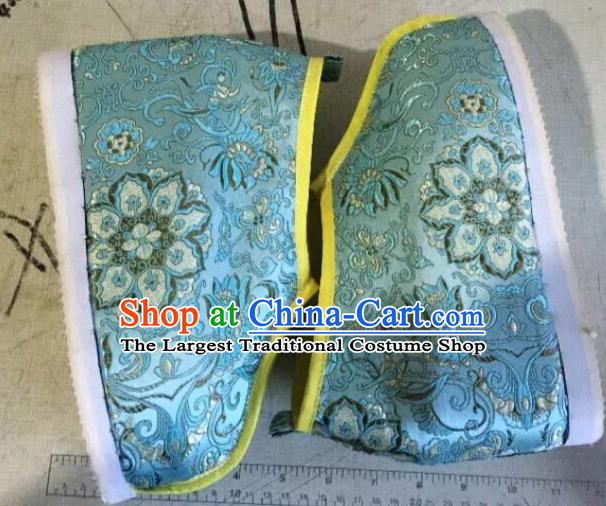 Traditional Chinese Shoes Ancient Princess Shoes Hanfu Wedding Shoes Opera Blue Shoes for Women